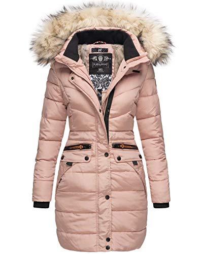 Navahoo Damen Winter Jacke Mantel Parka warm gefütterte Winterjacke B383 [B383-Paula-Rosa-Gr.XL]