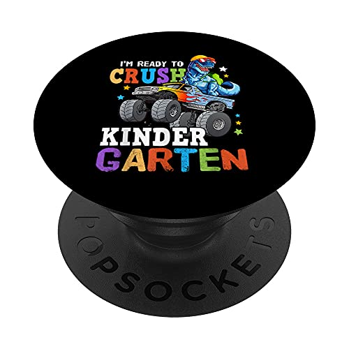 Kids I'm Ready To Crush Kindergarten Monster Truck PopSockets PopGrip Intercambiable