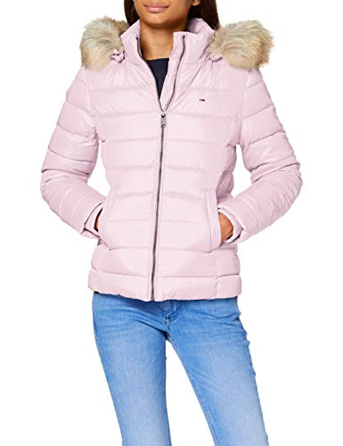 Tommy Jeans TJW Basic Hooded Down Jacket Giacca, Rosa Romantico, M Donna