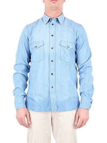 Mauro Grifoni Luxury Fashion Herren GE12002681LIGHTBLUE Hellblau Baumwolle Hemd   Jahreszeit Outlet