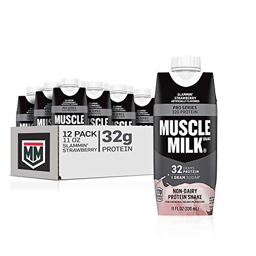Muscle Milk Pro Series Protein Shake, 32g Protein, Slammin' Strawberry, 11 Fl Oz, 12 Pack