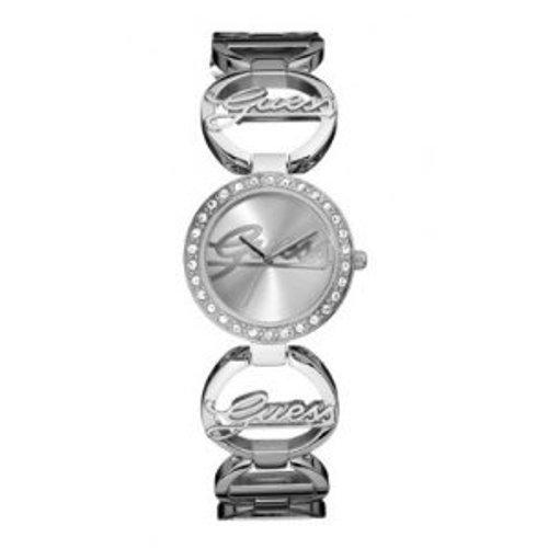 Guess W95083L1 - Reloj analógico de mujer de cuarzo con correa de acero inoxidable plateada