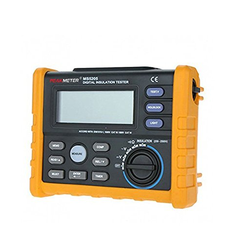 PEAKMETER PM5205 Digital Insulation Tester Resistance Meter Multimeter Megohmmeter Auto Power Off