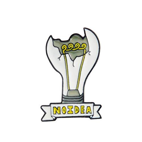 Conijiwadi Broche Bulbo Roto Forma Maceta Unisex Decorativo Decorativo Zinc Alloy Pin Pin para Ropa Mochila