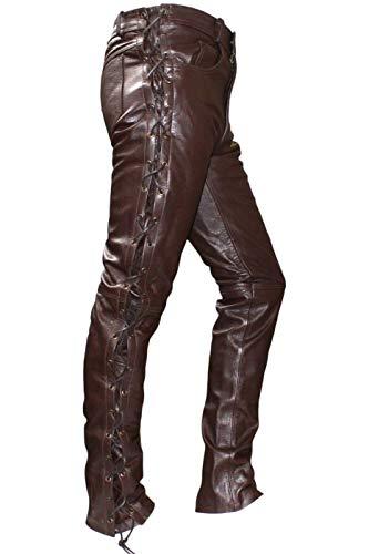 German Wear Pantalones moteros de cuerpo con lazado lateral marrón marrón 60 (UE)
