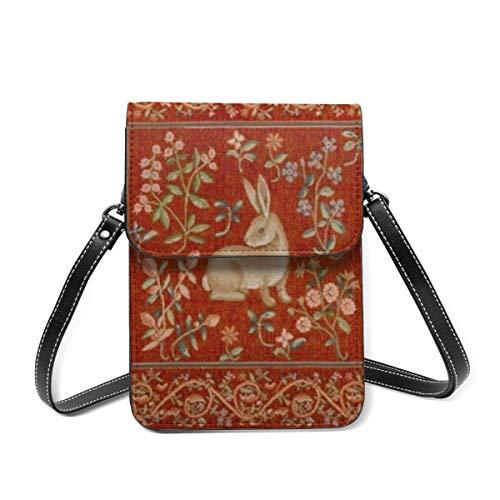 Bolso de hombro pequeño, cojín de tapicería vintage, bolsa cruzada para teléfono móvil, cartera ligera para mujeres y niñas