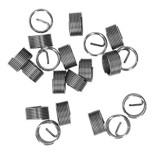 20 piezas M14 x 1,25 hilo de reparación de hilo de alambre de inserción espiral círculo enchufe de rosca funda de hilo conjunto de enchufes de hilo herramienta de inserciones(1D)