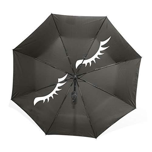 Paraguas Abstract Wing Eyelashes 3 pliegues Ligero Anti-UV