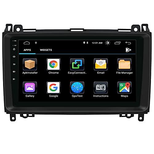 NVGOTEV 9 Pollici Autoradio 1 Din Android 10 per Mercedes W906 Sprinter/V-Class W639/Vito/Viano/B-Class W245 B160 B170 B180 B200, Supporto Navigazione GPS Bluetooth AM PM WIFI SWC DSP DAB+, 2+32GB