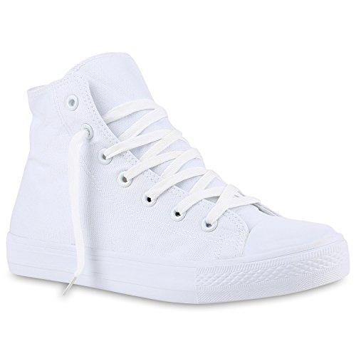 stiefelparadies Herren Schuhe 140051 Sneakers Weiss Total 42 Flandell