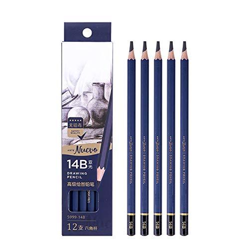 Z·Bling Lapices de Grafito HB - 12 Piezas - Ideal para Escritura,Dibujo Técnico y Croquis Principiantes,Profesionales y Artistas - Set de Dibujo Profesional