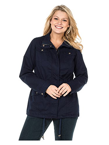 Sheego Outdoorjacke Anorak Parka Jacke Mantel Damen Plusgröße, Farbe:Marine (Navy), Damengrößen:50