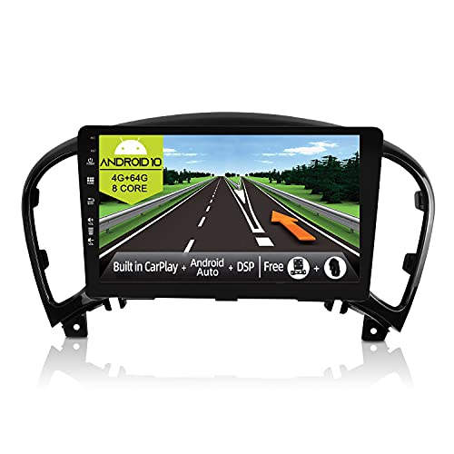 JOYX Android 10 Autoradio Compatibile Nissan Juke J15 (2010-2019) / YF15 Infiniti ESQ (2011-2017)- [4G+64G] - Built-in DSP/Carplay/Android Auto - BT5.0 DAB Volante 4G WiFi 360-Camera -9 Pollici 2 Din