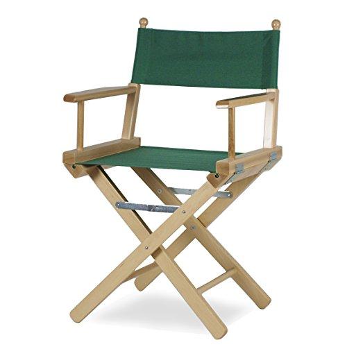 Arredasi - Regista P - Chaise en bois teinté naturel et tissu vert