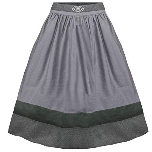 Berwin und Wolff Damen Trachten-Mode Rock Babette in Grau 70 cm traditionell, Größe:32, Farbe:Grau