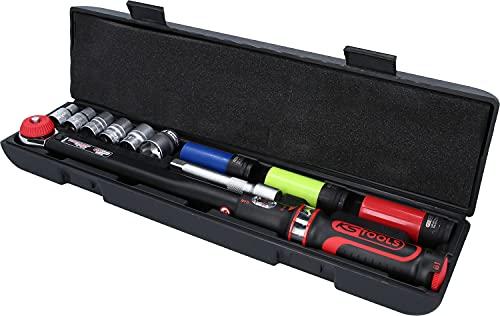 KS Tools Wiha 516.2400 Ergotorque Jeu de clés dynamométriques 1/2' pour montage sur roue 20-200 Nm 11 pièces