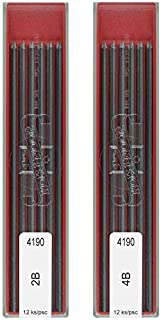Koh-I-Noor 2B & 4B Leads Refill, 2mm Mechanical Pencil Graphite Lead for Technical Drawing & Drafting Pencil - 24 Leads