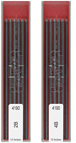Koh-I-Noor 2B & 4B Leads Refill, 2 mm