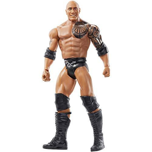 WWE GKY61 - WrestleMania Figur (15 cm) The Rock, Spielzeug Actionfiguren ab 6 Jahren