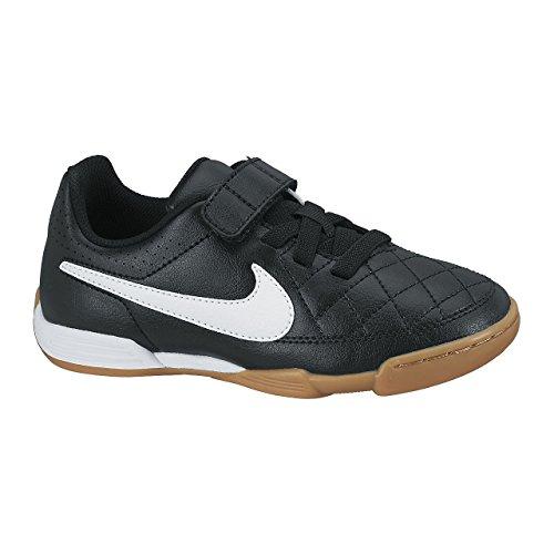 Nike Nike Damen Jr Tiempo V4 IC Fitnessschuhe, Schwarz/Weiß/Schwarz, 38 EU