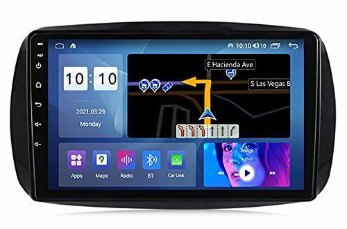 SuRose Android 10 Radio Coche, para Mercedes Benz Smart 2014-2020 Radio Navegación GPS Estéreo WiFi Control del Volante con Cámara De Visión Trasera