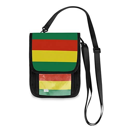 Geldbörse mit Bolivien-Flagge, RFID-blockierend, kleine Umhängetasche, Handy-Geldbörse mit Kreditkartenfächern