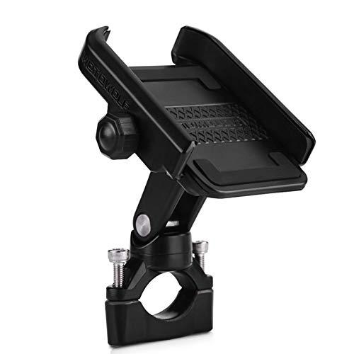 Qiilu Support de Téléphone VoitureTableau de Bord Support de Guidon de Vélo de Moto Réglable 360 degrés pour Téléphone Portable de 4-6 Pouces Noir