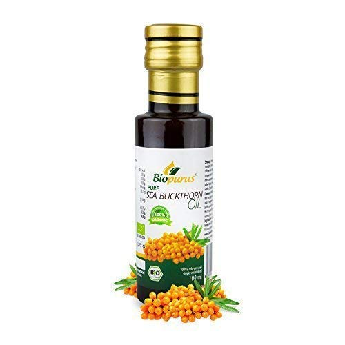 Organique Certifié Froid Pressé Mer Bourdaine Huile de Graines 100ml Biopurus