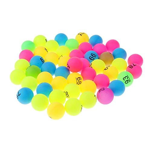 FLAMEER 50 Pcs de Pelotas de Tenis Regalo para Deportista Accesorio de Decoracion de Piscina - Número 51-100 Multicolor
