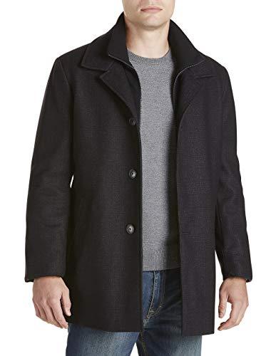 Calvin Klein Big and Tall Zale Plaid Overcoat
