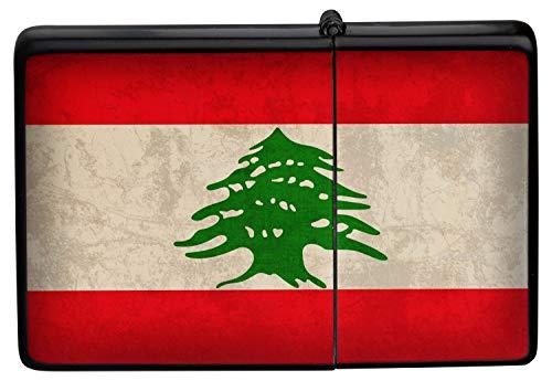 Feuerzeug Benzinfeuerzeug Sturmfeuerzeug Metallfeuerzeug in Farbe Schwarz Feuerzeug Schwarze Libanon Flagge