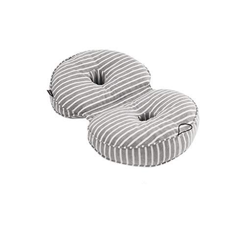 Memory foam dubbele gat mooi heupkussen verdikking kantoor ademend sedentaire trage rebound vacuüm heupkussen kussen taille pad (Color : C)
