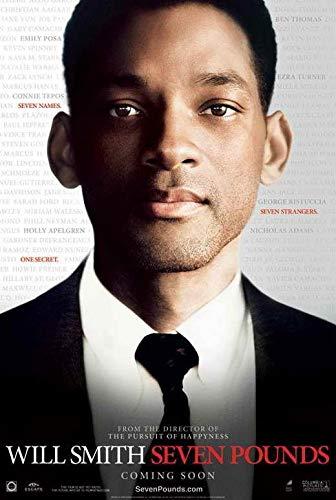 69976 Seven Pounds Movie Will Smith, Rosario Dawson Decor Wall 16x12 Poster Print