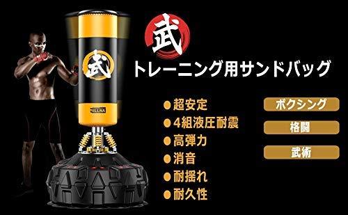 ECOBODYサンドバッグスタンディングバッグスタンド型トレーニング総合格闘技ボクシングムエタイ空手テコンドーなどトレーリング用パンチングミットマーシャル空手ミット格闘技(黄色)