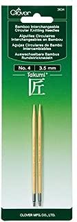 Clover 3634 Needlecraft Takumi No.4 Bamboo Interchangeable Circular Knitting Needles