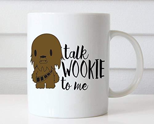 Mattanch Sprechen Sie Wookie zu mir Tasse Lustige Kaffeetasse Lustige Tassen Chewbacca-Kaffee-Liebhaber-Geschenk-einzigartige Kaffeetassen Star Wars-Tasse Niedliche Kaffeetasse