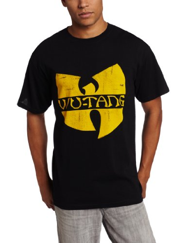 Wu-Tang Clan Distressed Logo T-Shirt - Black (XXX-Large)
