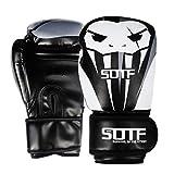 MAPPE Guantoni da Boxe Sportivi da Boxe da Combattimento Spessi Guanti da Boxe da Boxe Tiger Muay Thai Combatti Donne/Uomini Sanda Boxe Thai Glove Box MMA, Sotf-St2A, 12 Oz