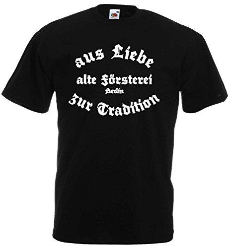 Berlin Herren T-Shirt alte Försterei Stadion Schwarz XL