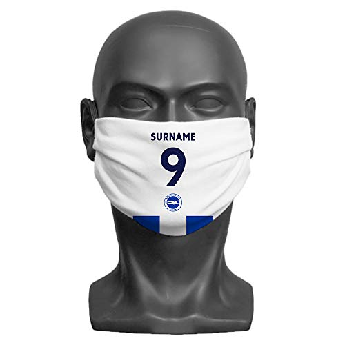 Content Gateway Made Just For You Official Licensed Brighton & Hove Albion FC Back of Shirt Adult Face Mask (Large)