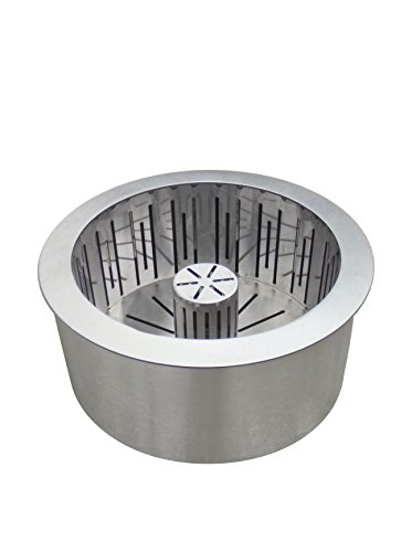 PURLINE PB25 Edelstahl-Doppelschichtpelletbrenner mit Aschesammelkorb, Grau