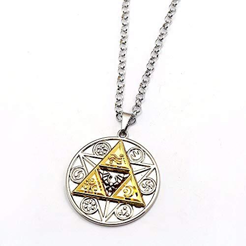 MINTUAN Juego The Legend of Zelda Necklace Magic Coin Pendant Fashion Link Chain Collares y Colgantes Mujeres Hombres Regalos Joyas