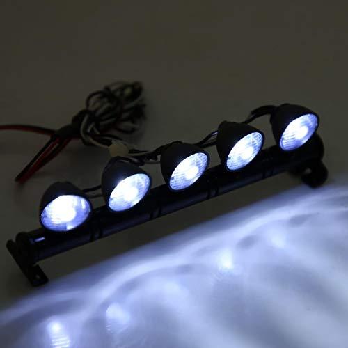DAUERHAFT LEDs Lichtleiste RC Auto Licht Set Scheinwerfer Lampe Zubehörteil, für Ihre Kinder, die RC Modell Teil lieben, für AXAIL scx10 Traxxas TRX-4 RC Auto