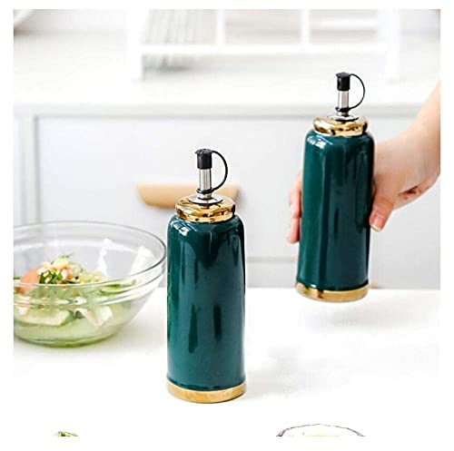 Daily Accessories Light Luxury Ceramic Oil Pot Oil Tank Oil Bottle Kitchen Supplies Seasoning Bottle Soy Sauce Pot Vinegar Pot 1