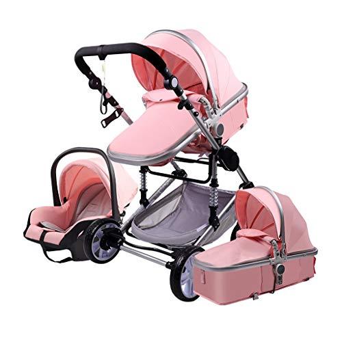 JIAX Mini ventilador de cochecito de mano, cochecito de bebé, cochecito plegable, se convierte en cochecito de bebé de nacimiento, cochecito de bebé, cochecito de bebé antichoque alto