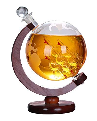 RXM Whiskey Globe Decanter Antiek Boat Wodka producten van houten rek Wooden Frame