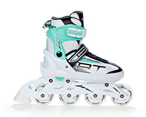 RAVEN Inline Skates Inliner Profession White/Mint verstellbar (35-39(23cm-25,5cm))