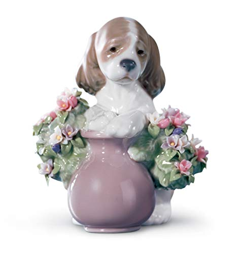 LLADRÓ Take Me Home Dog Figurine. Porcelain Puppy Figure.
