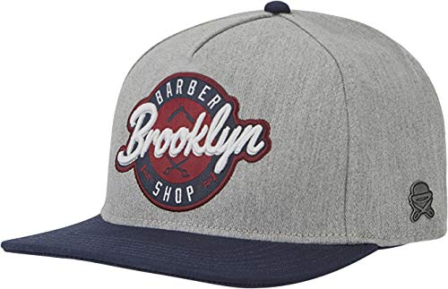 Cayler & Sons Snapback BK Barber Navy Grey, One Size Casquette, NVY/Gry, Taille Unique Mixte