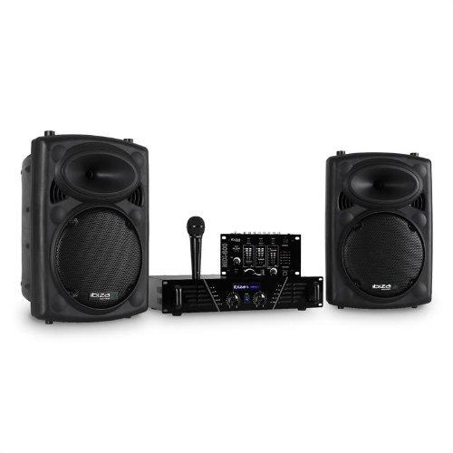 Ibiza DJ300MK2 Equipo de Sonido Disco AUX Mic